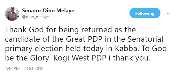 Dino Melaye wins PDP ticket for Kogi West Senatorial district