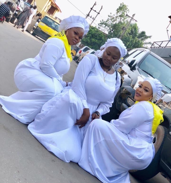 Curvy Nigerian ladies in white garment robes cause a stir online?(Photo)