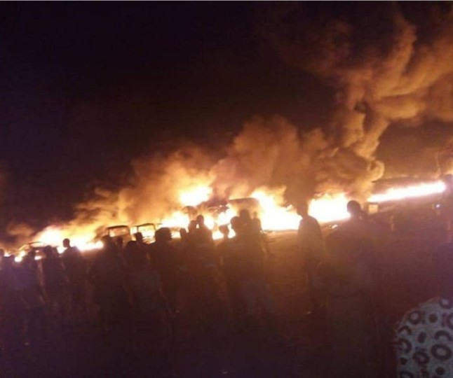 Many feared dead as fuel tanker explodes in Ondo state (photos/video)