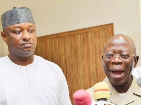 Caption this photo of Festus Keyamo and Adams Oshiomhole
