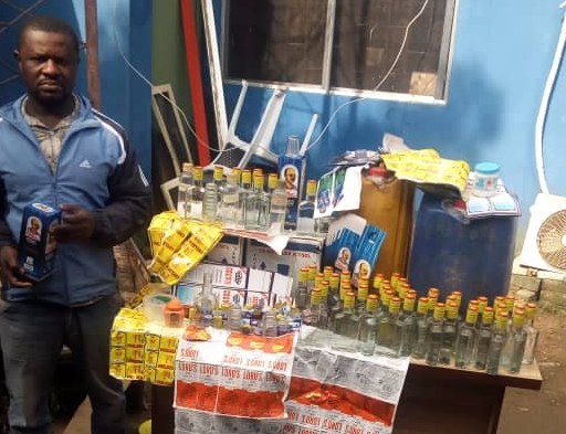 Photo: Producer/distributor of fake alcoholic drink arrested in Lagos