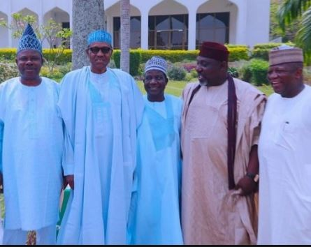2019: President Buhari holds?closed door meeting with nine APC governors