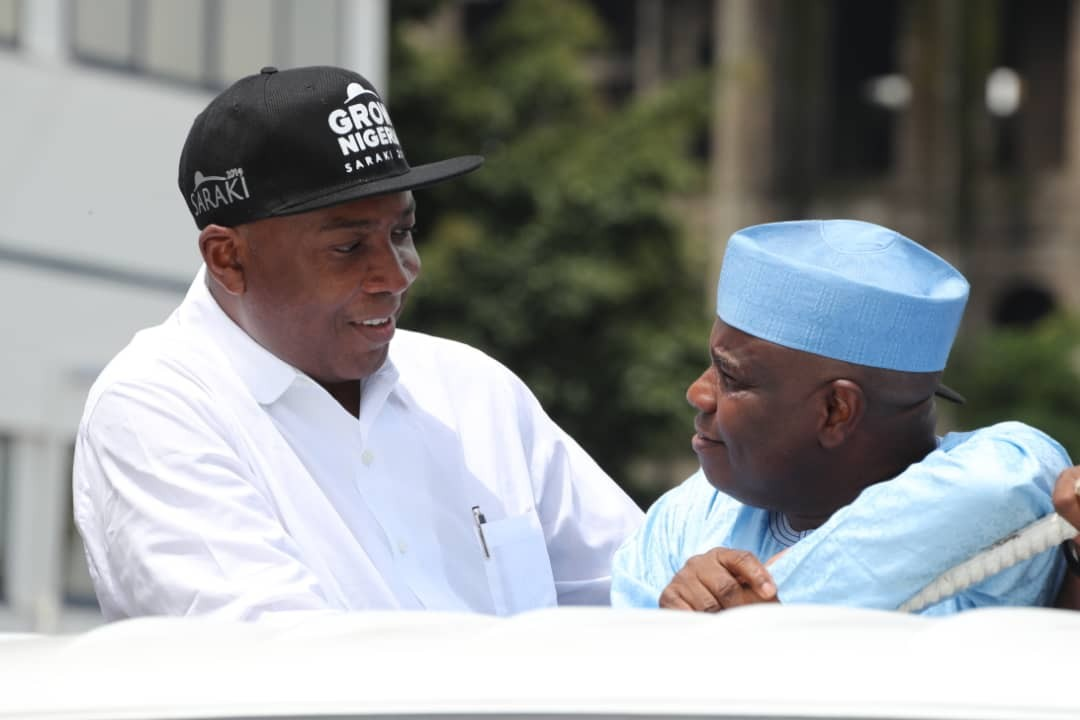 Caption this photo of Bukola Saraki and Aminu Tambuwal