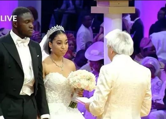 First photos from the church wedding of Pastor Chris Oyakhilome