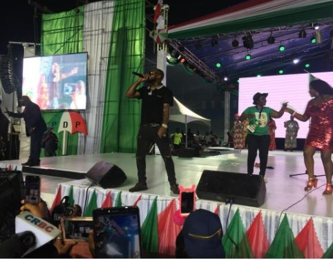 Davido performs at the PDP National convention in Port Harcourt (Photo)