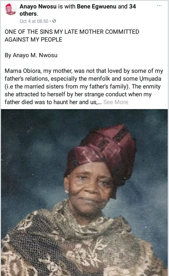 Nigerian man narrates how his mother was hated by her late husband