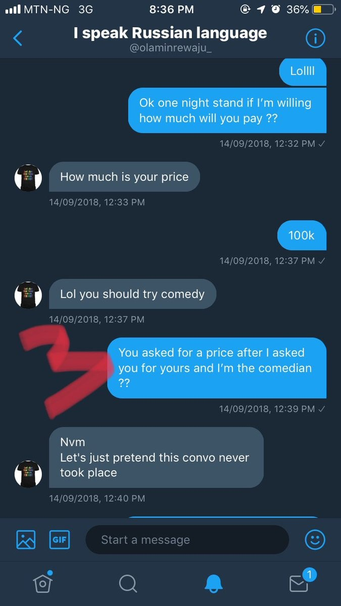 The Twitter gay fight gets messy as Nigerian man shares receipts and screenshot of a chat offering him N100k to have gay sex
