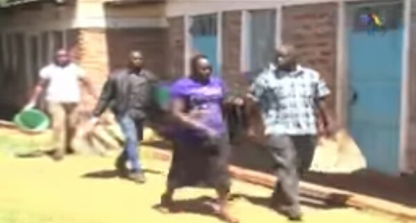 Photos: Kenyan woman arrested with sack containing her husband's chopped body