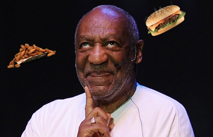 Disgraced actor Bill Cosby slapped with Chicken Patty in Prison Food fight?