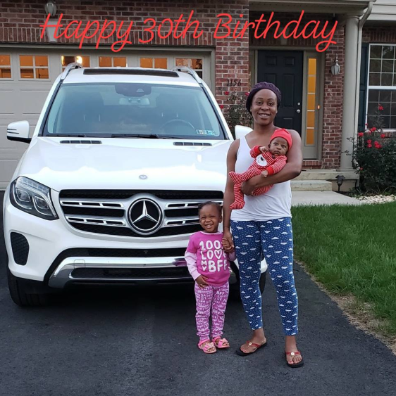 Nigerian ex-NFL player, Ony Momah buys his wife a Benz for her 30th birthday