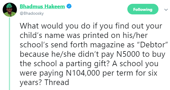 Man arrested for calling out a school in Ondo that published names of their students who refused to contribute money to buy them a plasma TV