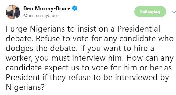 2019: Ben Bruce advises Nigerians not to vote for any presidential candidate that doesn