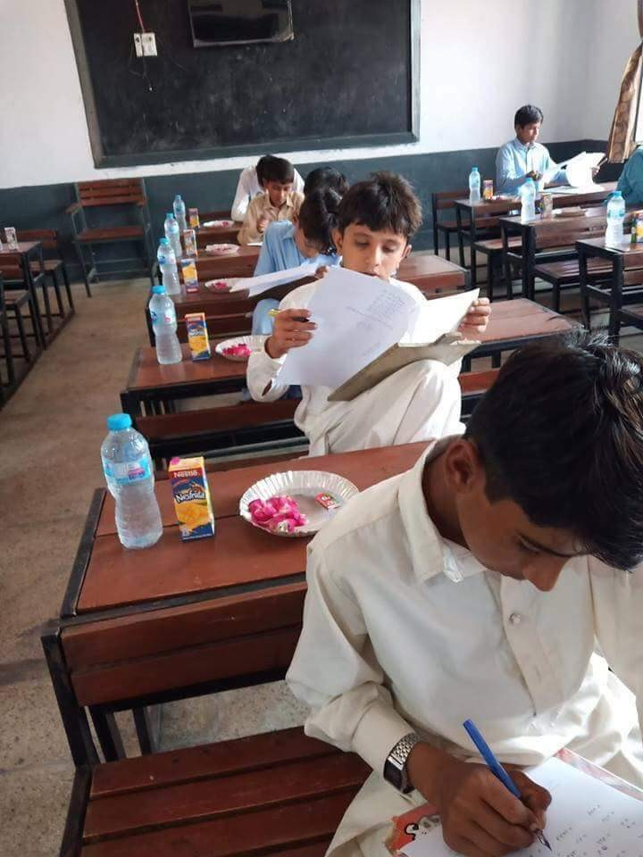 See what an examination hall in Pakistan reportedly looks like