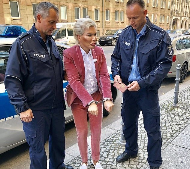 Human Ken Doll Rodrigo Alves arrested and handcuffed in Berlin (Photos)