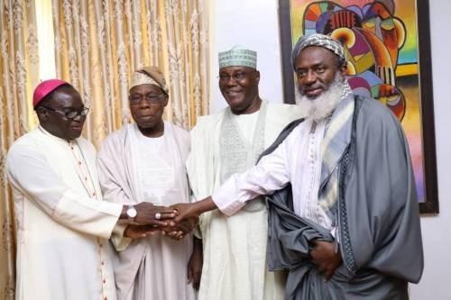 Photos: Oyedepo, Kukah, Gumi, join Atiku in Obasanjo