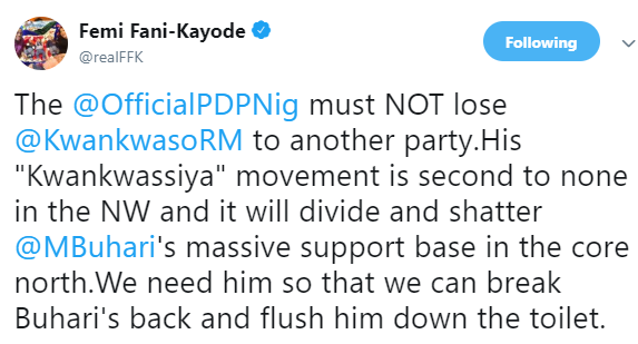 FFK reacts to reports of Rabiu Kwankwaso