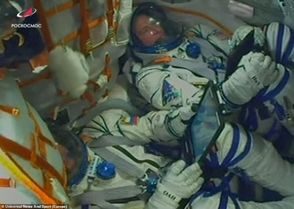 Incredible escape for two astronauts heading for Space Station as rocket fails on the edge of space and they are forced to hurtle back to Earth (video)