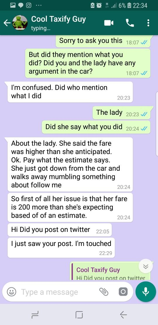 Taxify driver accuses lady of ordering her security men to beat him up in Lagos(photos)