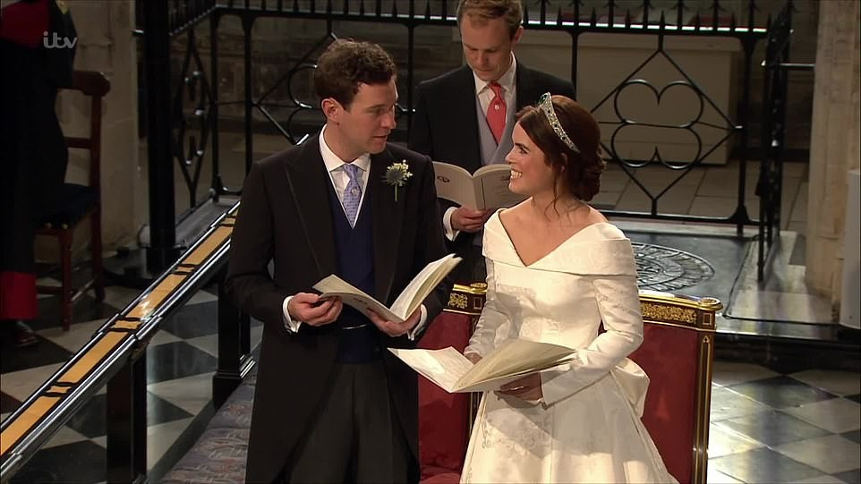 Look of love: Princess Eugenie and Jack Brooksbank can