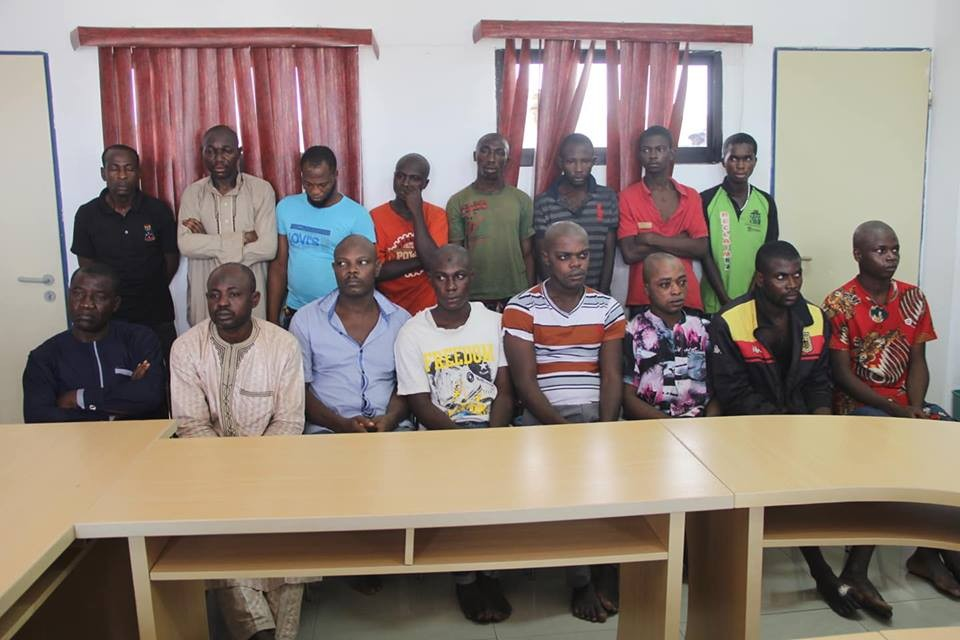Photos: Police parade vigilante group leader and his members that that kill their victims and sell their organs in Kogi