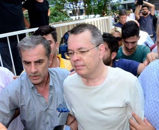 US pastor, Andrew Brunson accused of terrorism has been released from Turkish detention after two years
