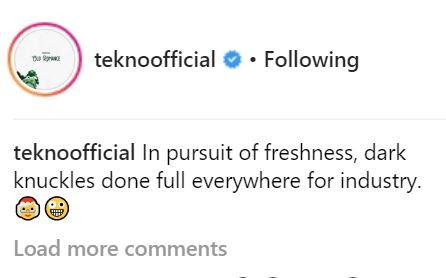 Lol! Tekno shatters a very