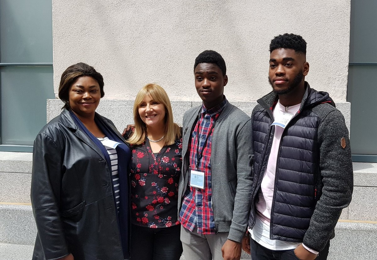 See the unthinkable effort classmates put together to stop a Nigerian boy, his brother and mother from Ireland's deportation (Photos/Video)