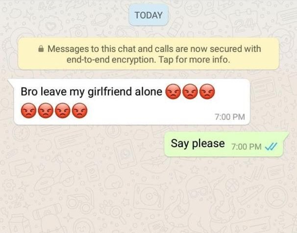 Check out the reply a man got after telling another man to leave his girlfriend
