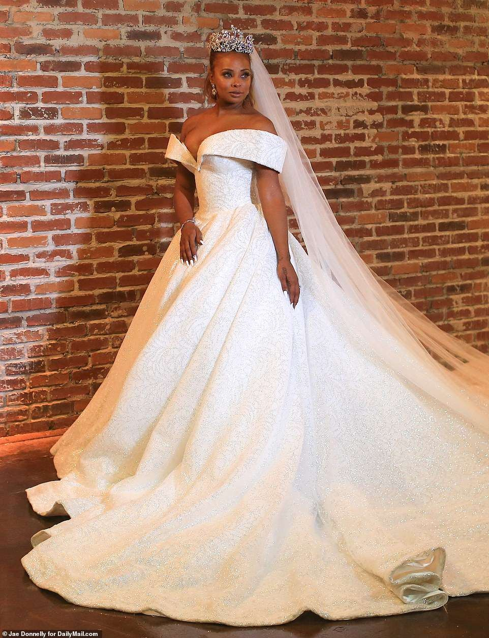 Check out stunning photos from Eva Marcille's flamboyant wedding to Michael Sterling