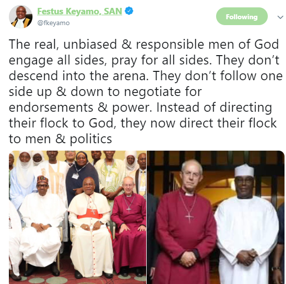 Festus Keyamo shades Bishop Oyedepo in new tweet