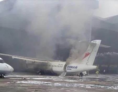 Overland Airways reveals the real cause of burnt aircraft