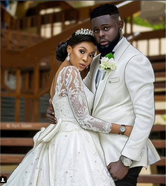 Fashion designer Yomi Casual and wife Grace celebrate their 1st wedding anniversary