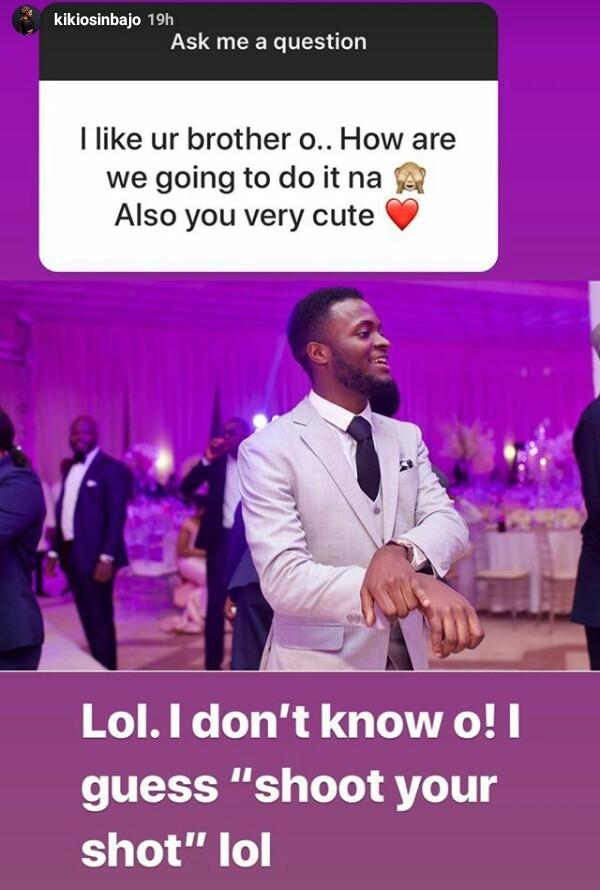 Kiki Osinbajo advises her brother