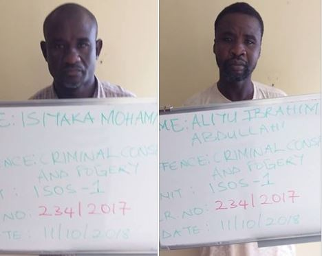 EFCC arraigns two men for criminal conspiracy and forgery in Kaduna State