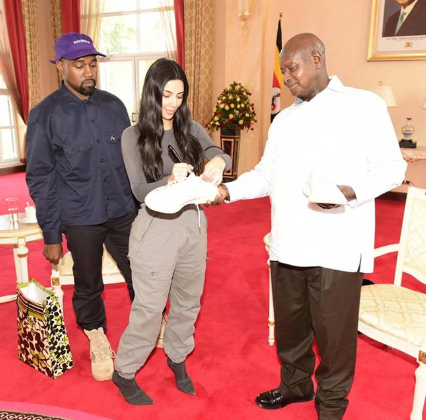 Ugandan president, Museveni hosts Kim Kardashian and Kanye West (photos)