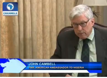 """Muhammad Buhari won all the last three presidential elections in Nigeria but he was rigged out"" -  Fmr US Ambassador to Nigeria John Campbell says"