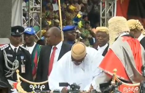 Photos: Kayode Fayemi sworn in as governor of Ekiti state
