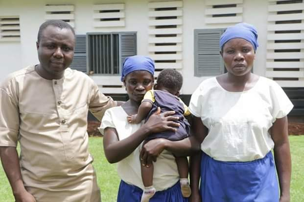 Photos: Mother and her two children released from 3 months jail sentence for 'collecting' leftover corn worth 10 cedis