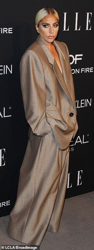 Lady Gaga steps out in oversized suit for Women in Hollywood Awards