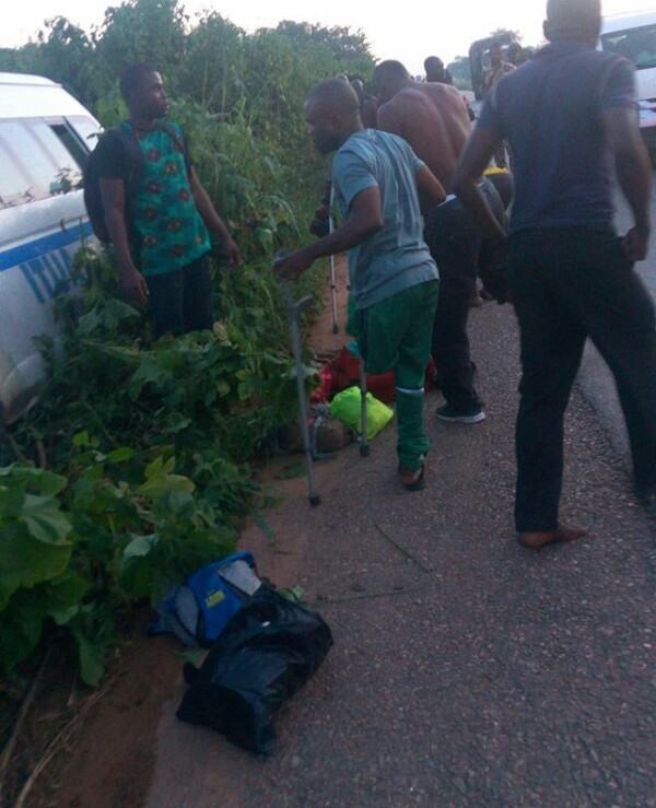Photos: Nigeria Amputee Football Team involved in auto crash en-route Abuja for visa appointment