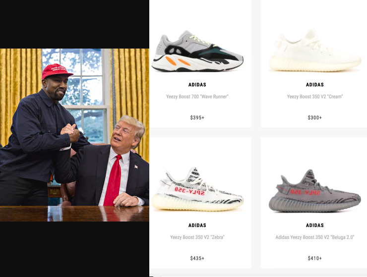Prices of Yeezy sneakers drop drastically after Kanye