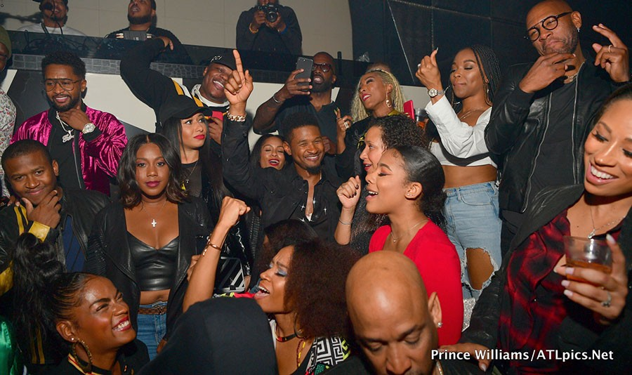 Usher celebrates his 40th birthday with Diddy, Tyga, Kevin Hart, Chris Brown, Keri Hilson and others (Photos)