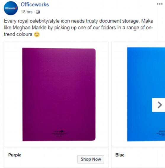 The Meghan effect! Demand for purple folder surges after Meghan Markle used it to hide her bump when she arrived in Australia