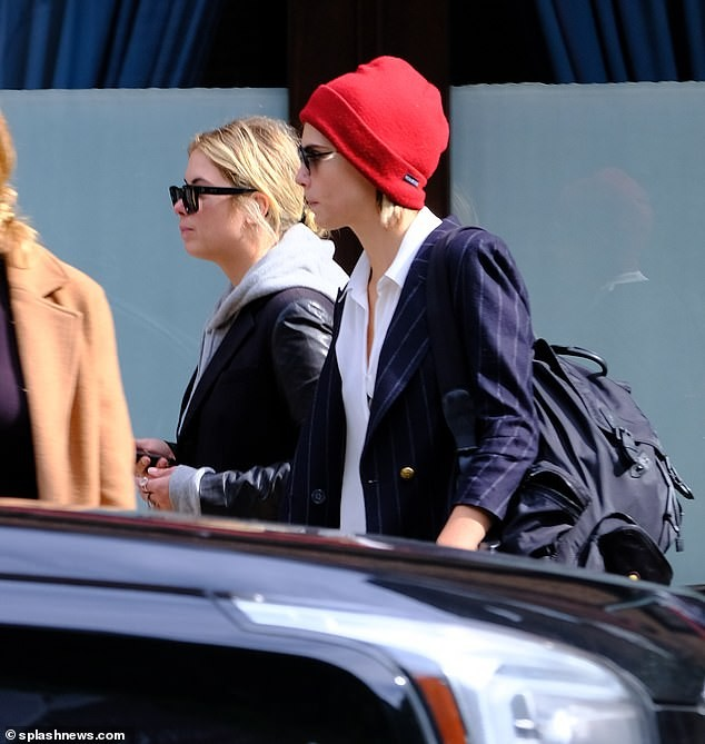 Supermodel Cara Delevingne and her girlfriend Ashley Benson step out in NYC (Photos)