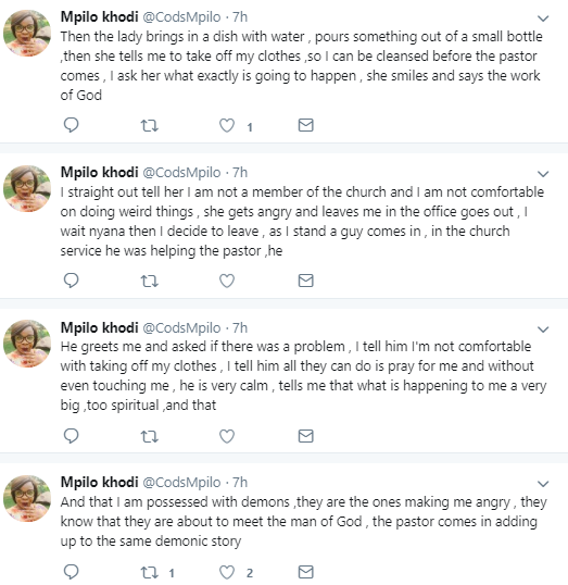 """Woman narrates how she escaped from a popular pastor who sleeps with female church members to """"put holiness in them"""""""