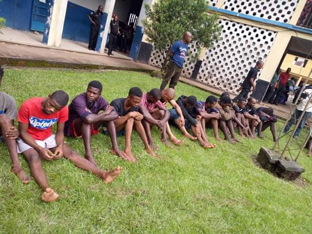 Photos: Edo Police parades 72 suspects for cultism, kidnapping, armed robbery