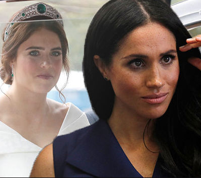 "Princess Eugenie was left ""on the brink of tears"" on her wedding day after Harry and Meghan ""overshadowed"" her by announcing their baby news at her wedding"