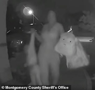 Woman is caught on surveillance footage ringing stranger