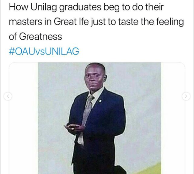#OAUvsUNILAG: Here are 10 epic clapbacks OAU students threw at UNILAG students everyone is talking about.(Screenshots)