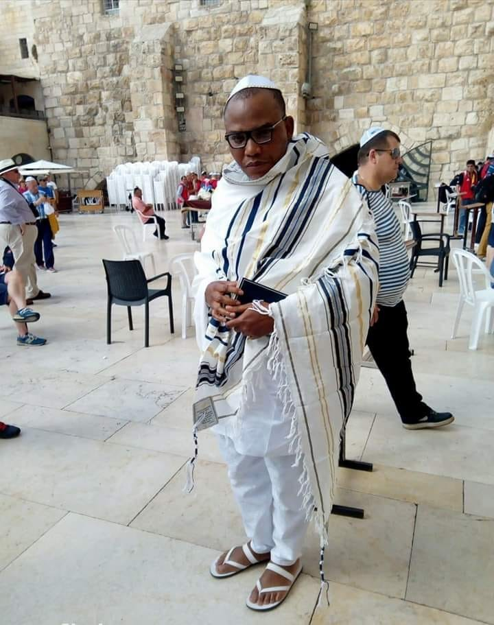 IPOB leader, Nnamdi Kanu spotted in Jerusalem (photos/video)